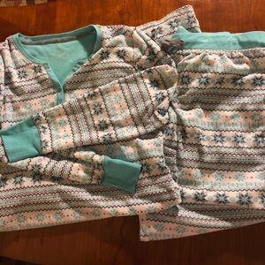 Betsy Johnson thermal soft pajamas size large